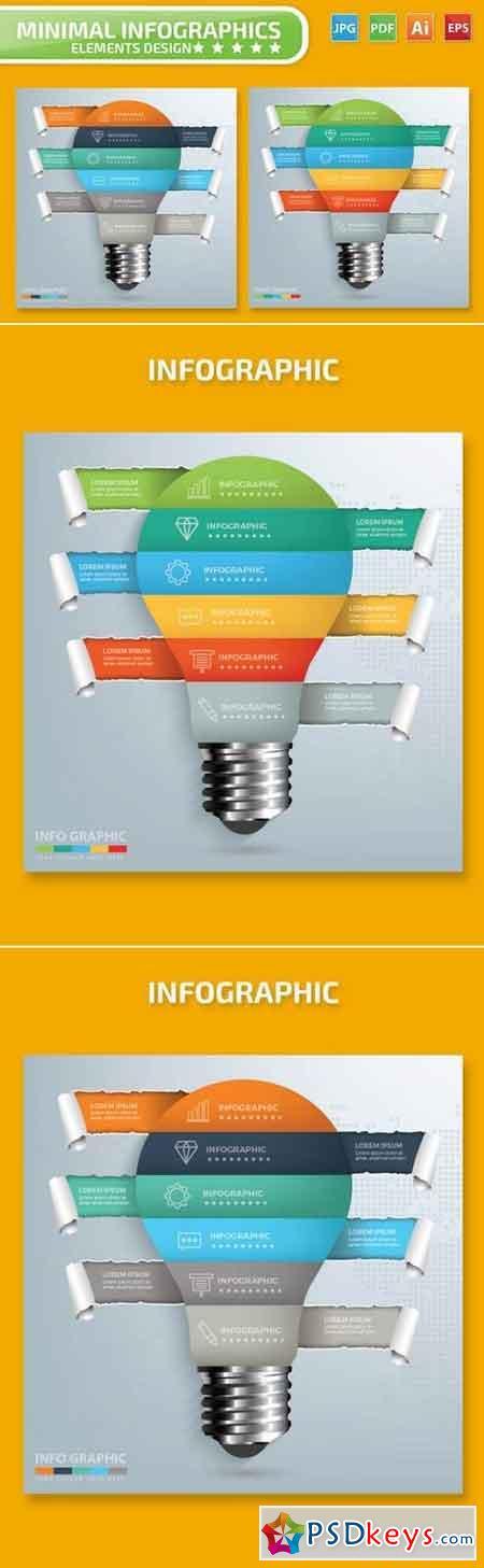 Light bulb Infographics Design 2