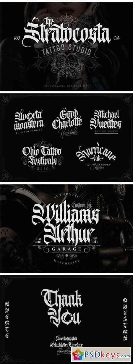 Avertequestra Blackletter Typeface
