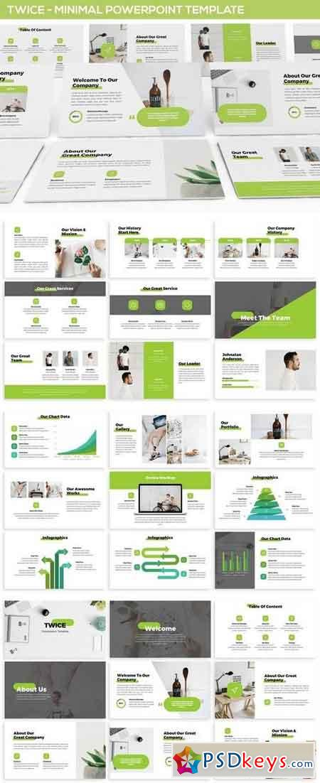Twice - Minimal & Simple Powerpoint Template