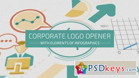 Corporate Logo Opener With Elements Of Infographics 17208550 After Effects Template