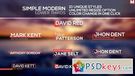 Simple Modern Lower Thirds 12420012 After Effects Template
