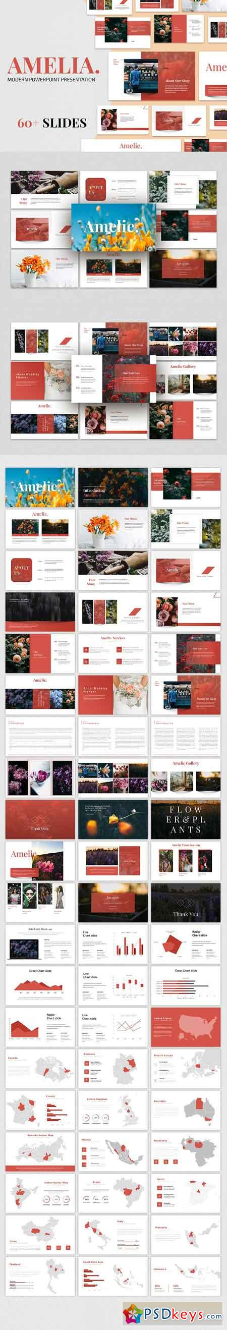 AMELIA - Modern Powerpoint Template 2868665