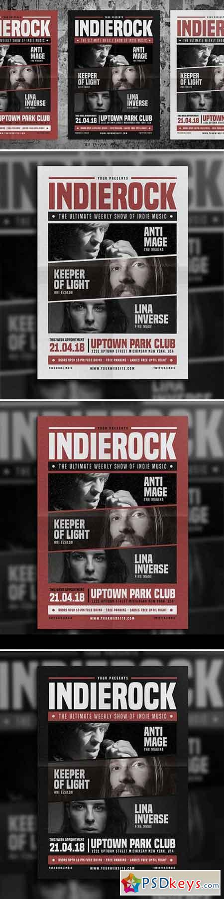 Indie Rock Flyer Vol 03 652524