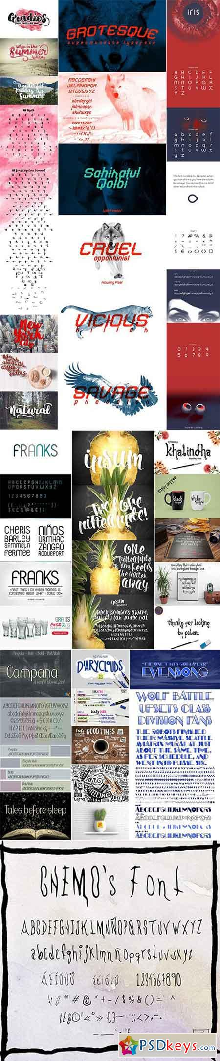 Mix Fonts Bundle 69