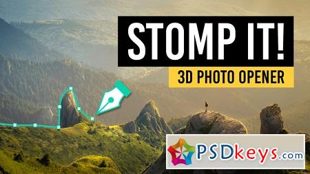 STOMP IT! 3D Photo Opener 22184535 After Effects Template