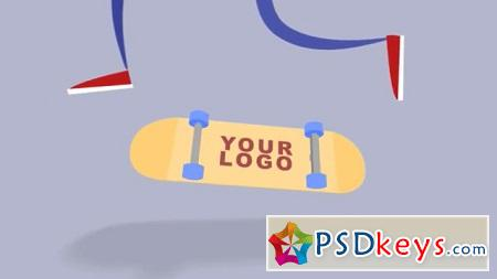 Pond5 Skateboard Logo 074125448 After Effects Template