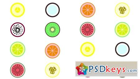 Pond5 Flat Round Fruits 076762087 After Effects Template