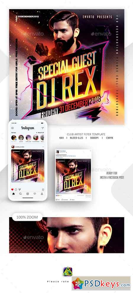 Guest Dj Flyer Template 22650881