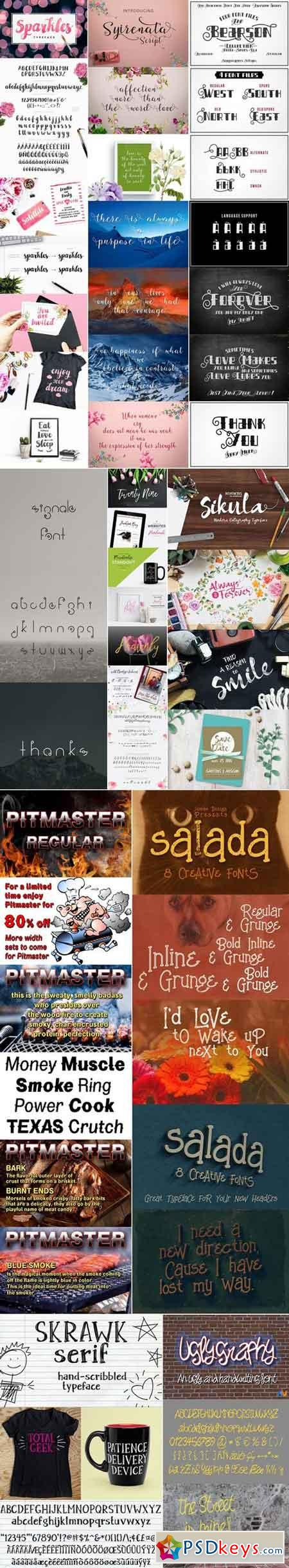 Mix Fonts Bundle 71