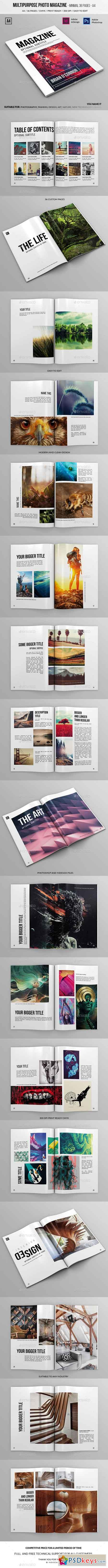 Multipurpose A4 Photo Magazine 36 Pages 17944812