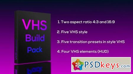 VHS Build Pack Premiere Pro Templates 121705