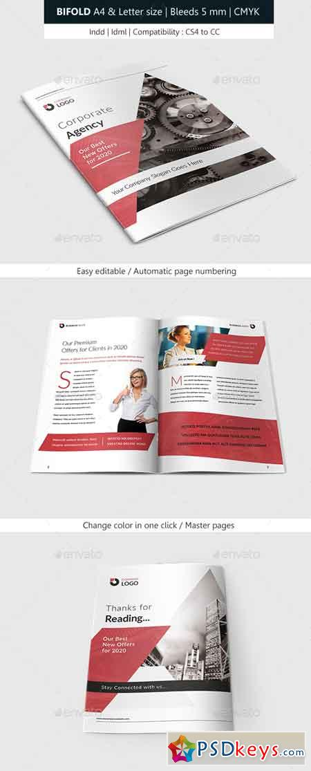 Bifold Brochure Corporate Indesign Template 22640940