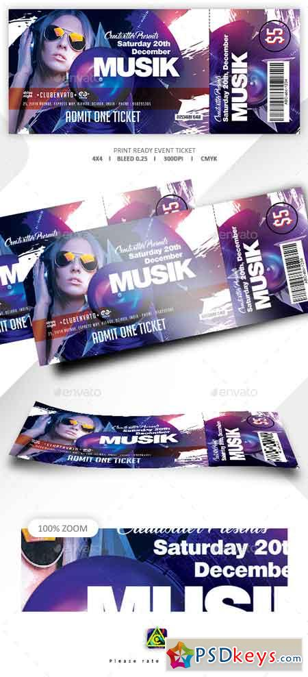 Print Ready Event Ticket 22634732