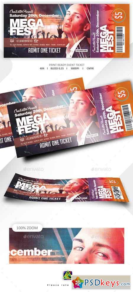 Print Ready Event Ticket 22634709