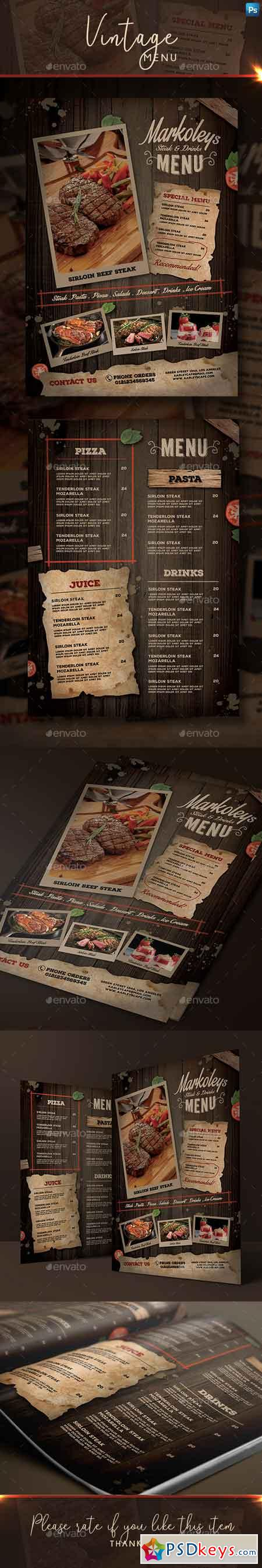Rustic Cafe Menu 22651513