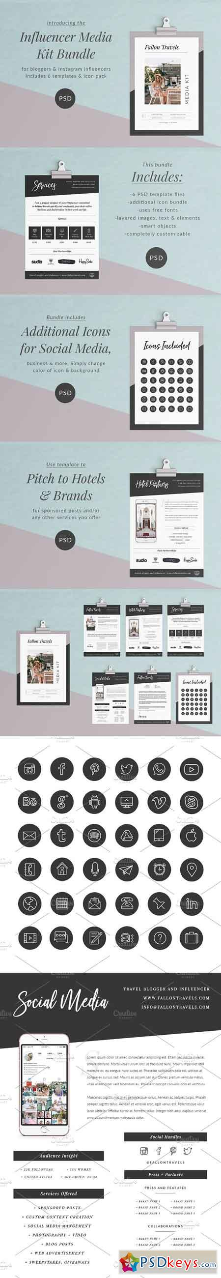 Influencer Media Kit Bundle 2957375