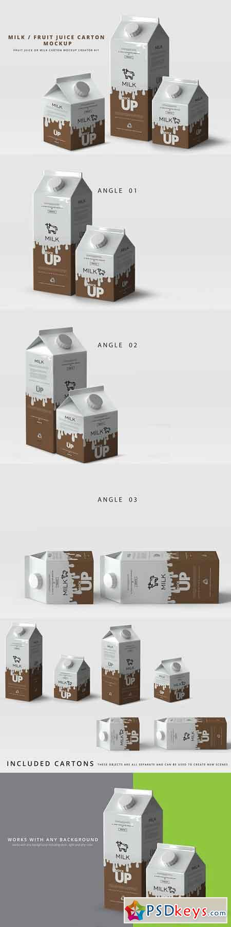 Milk Fruit Juice Carton Mockup 2964103