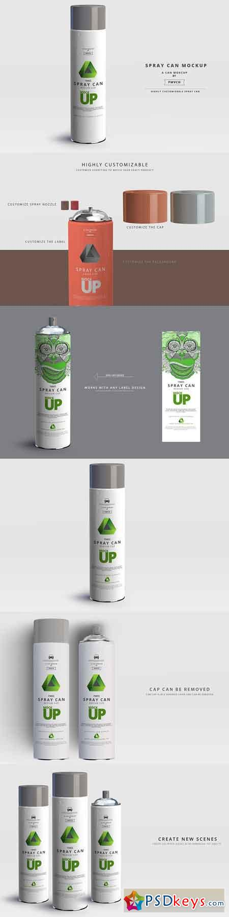 Spray Can Mockup - Large Size 2961965