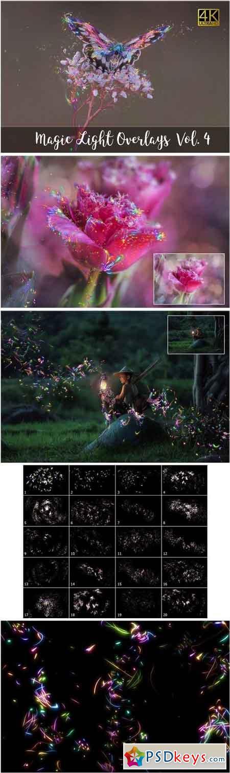 4K Magic Light Overlays Vol. 4 1401179