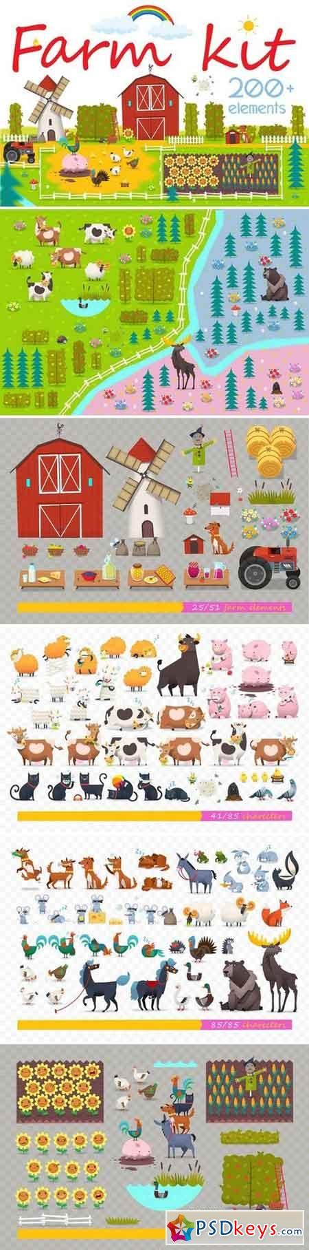 Huge Set of Farm Elements 2930328