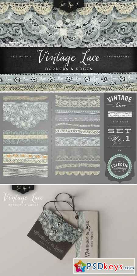 Vintage Lace Borders & Edges 1 12037
