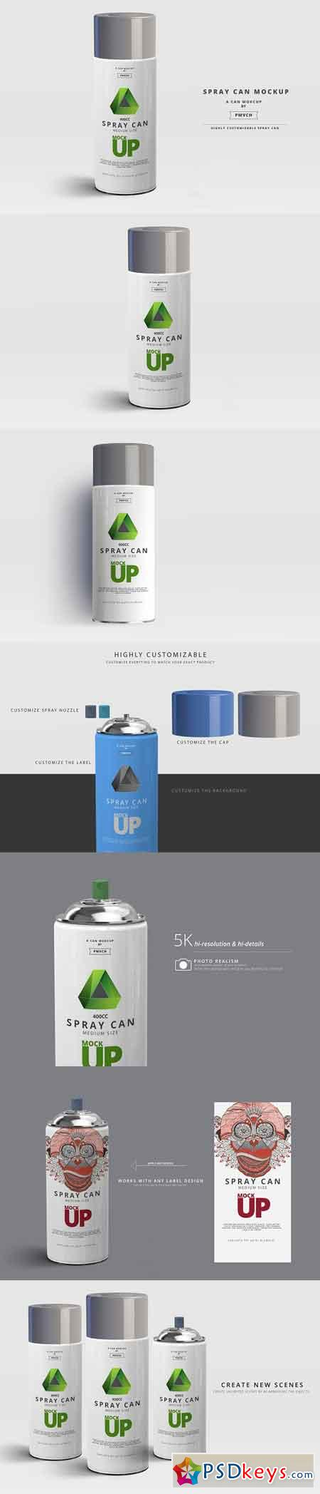 Spray Can Mockup - Medium Size 2961896