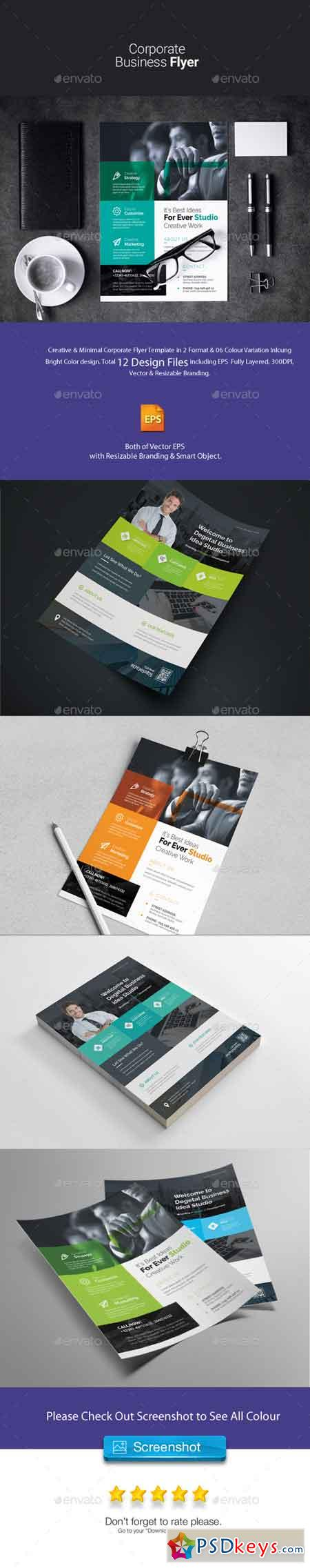 Corporate Flyer Bundle 2 in 1 22647506