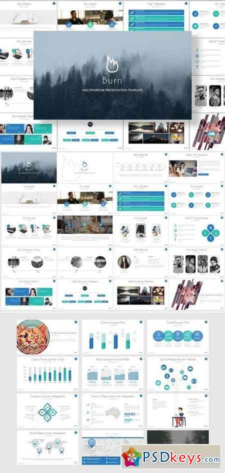 Burn - Keynote and Google Slides Template