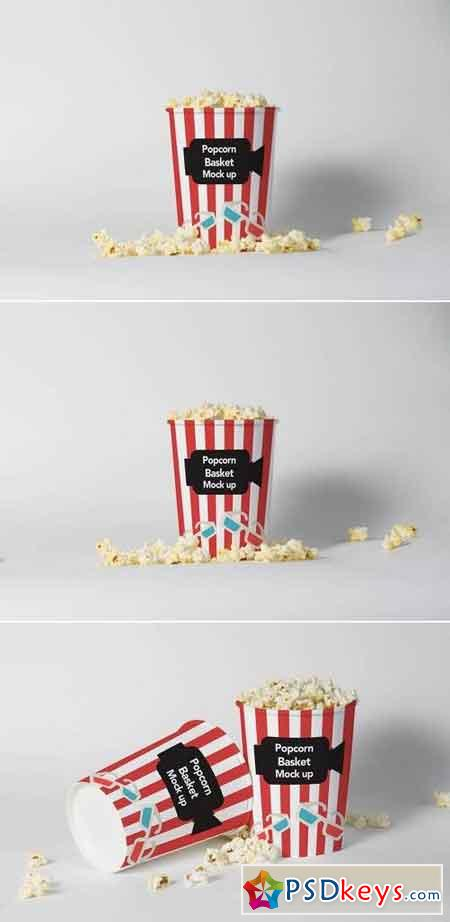 Popcorn Basket Mock Up Vol. 02