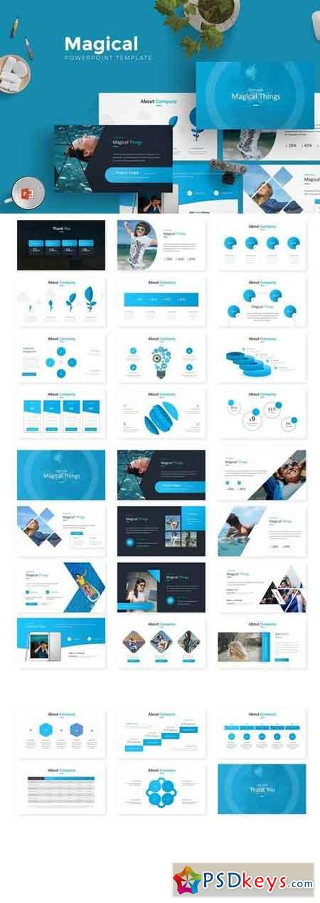 Magical - Powerpoint, Keynote, Google Sliders Templates