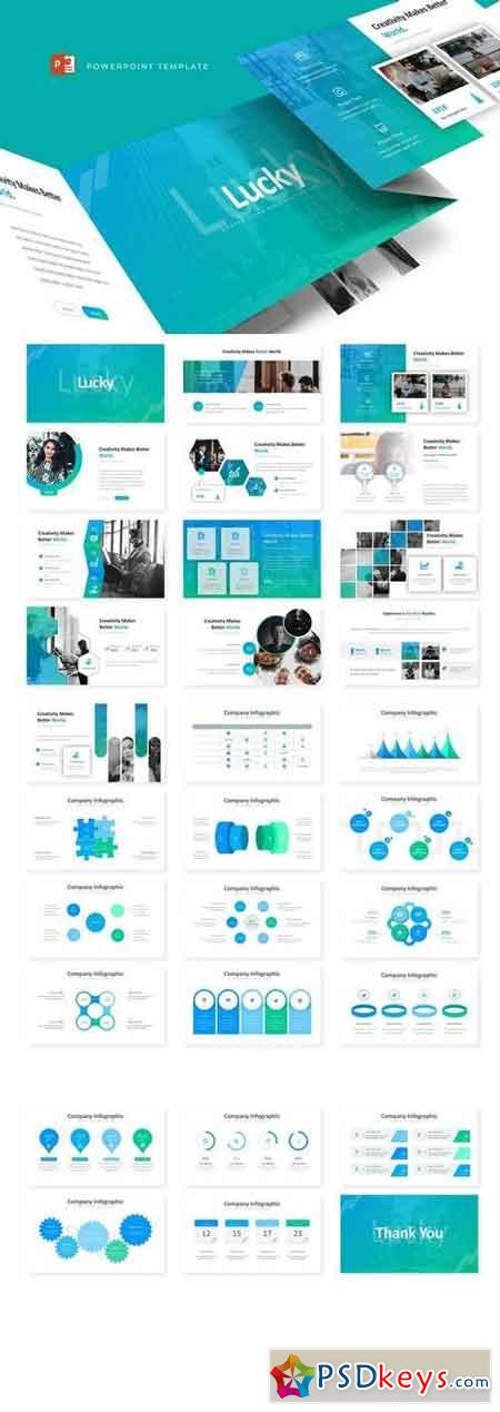 Lucky - Powerpoint, Keynote, Google Sliders Templates