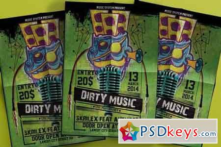 Dirty music Flyer