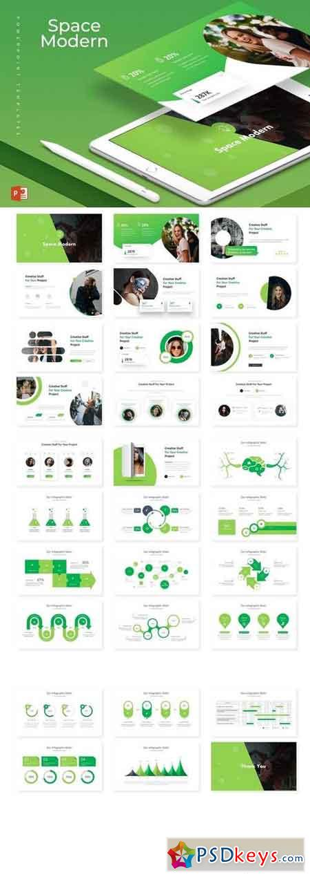 Space Modern - Powerpoint, Keynote, Google Sliders Templates