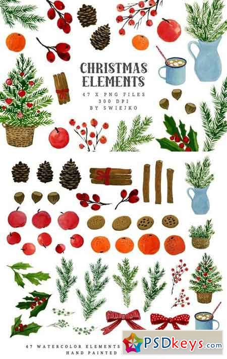 Watercolor Christmas Clipart 1070578