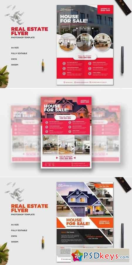 Real Estate Flyer Template Bundle