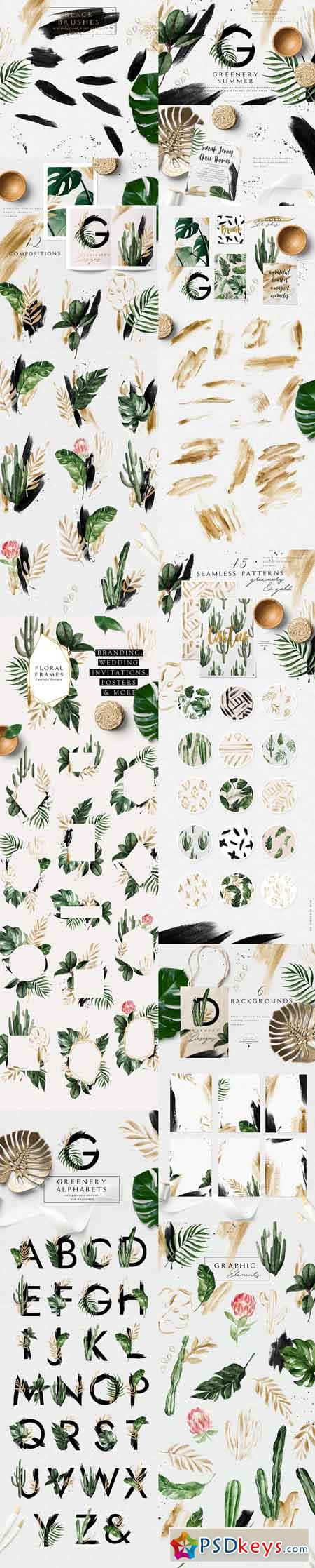 Greenery Summer Design Set 2851553