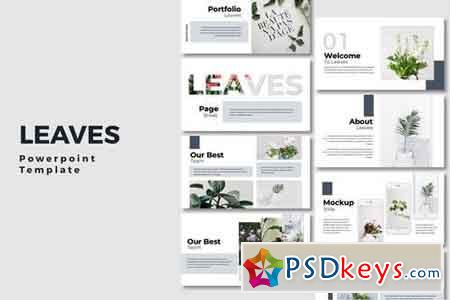 Leaves - Powerpoint, Keynote, Google Sliders Templates