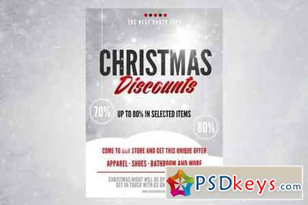 Christmas Discount Flyer Poster