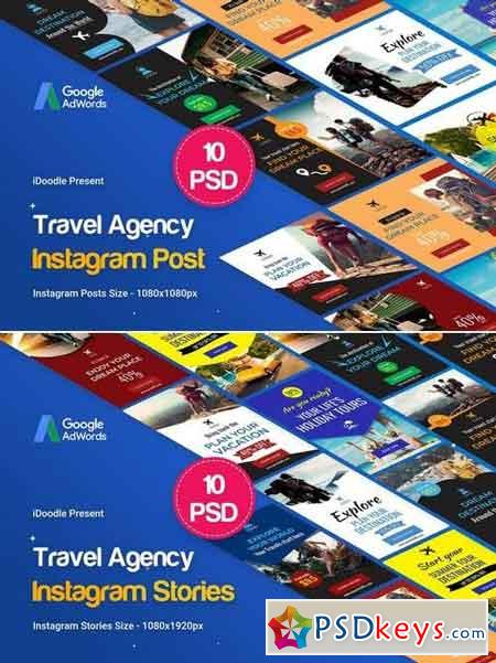Travel Instagram Posts and Stories