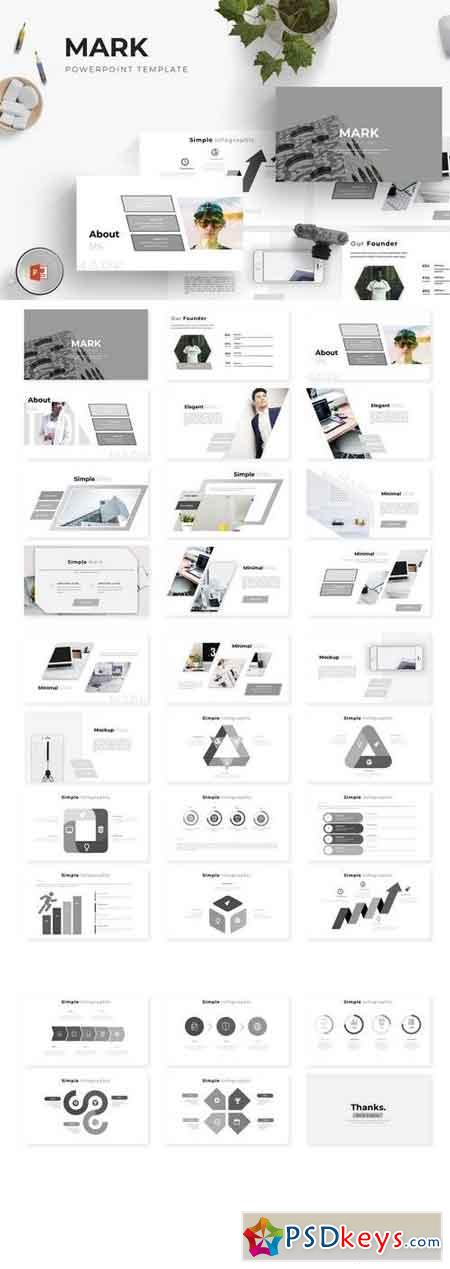 Mark - Powerpoint, Keynote, Google Sliders Templates