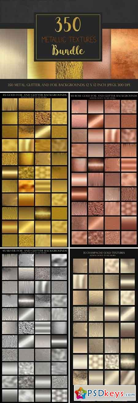 Metallic textures bundle 1454573