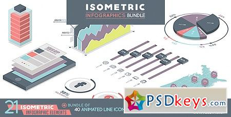 Isometric Infographics Bundle 19743356 After Effects Template