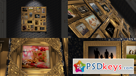 Golden Frames Photo Gallery Kit 18819937 After Effects Template