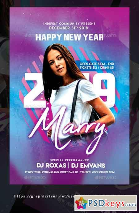 New Year Dj Flyer Templates 22674551