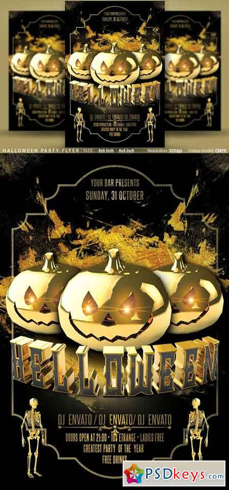 Halloween Party Flyer 3055502