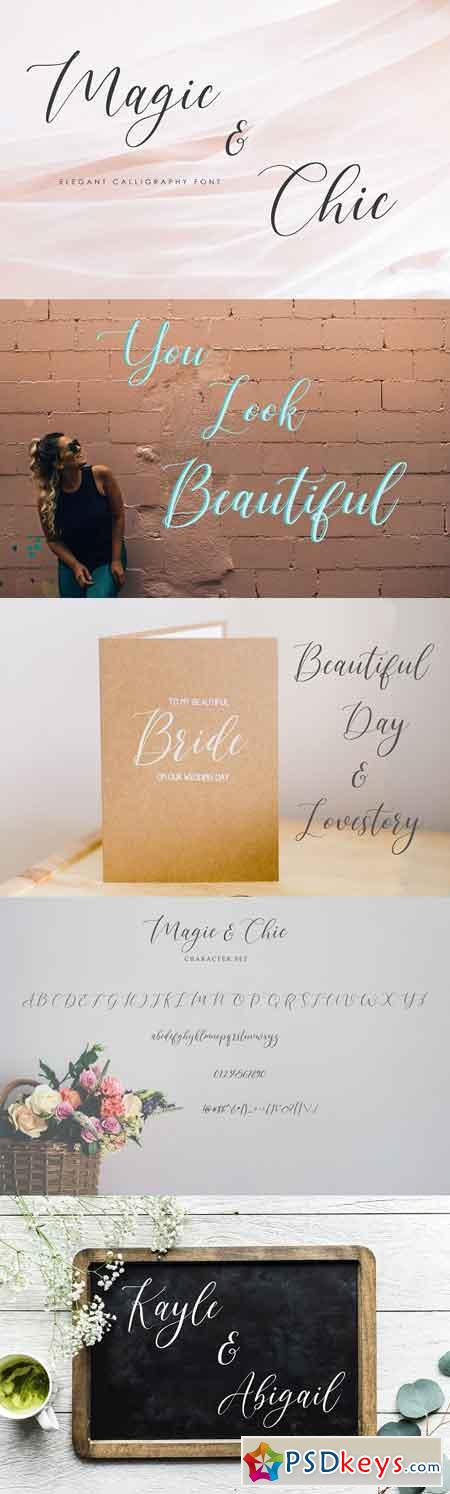 Magic & Chic Calligraphy Font 3040944