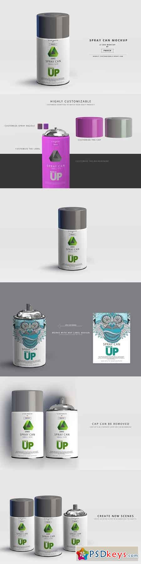 Spray Can Mockup - Small Size 2961931