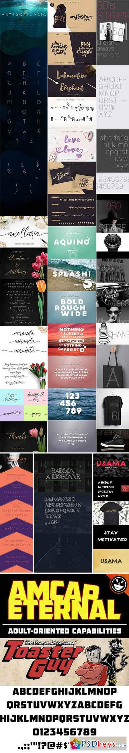 Mix Fonts Bundle 72