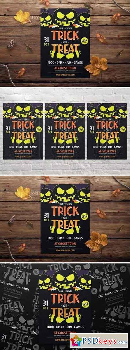 Halloween Trick or Treat Flyer 3070089