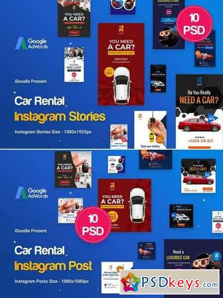 Car Rental Instagram Posts + Stories